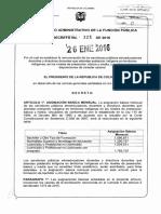 Decreto 121 Del 26 de Enero de 2016