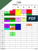 Horários Versão 1 2016 Versão 16-12-2015 Turmas Colorido