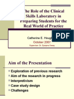 The Role of the Clinical Skills Laboratory In