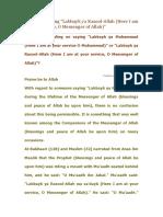 Ruling on Saying _Labbayk Ya Muhammad