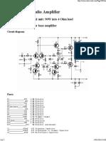 60 Watt MosFet Audio Amplifier