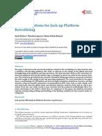 Design Solutions for Jack Up Platform Retrofitting