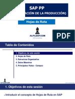 PP01 SAP PP Hojas de Ruta