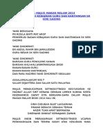 Teks Majlis Makan Malam 2014