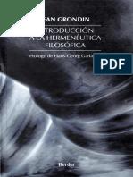 Introducción a La HeIntroducción a La Hermenéutica Filosóficarmenéutica Filosófica