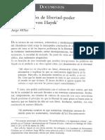 La Concepción de Libertad-poder de Friedrich Von Hayek