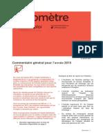 Baromètre Décembre 2015- année 2015 Alsace