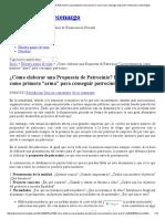 """¿Cómo Elaborar Una Propuesta de Patrocinio_ La Presentación Como Primera """"Arma"""" Para Conseguir Patrocinio _ Patrocinio y Mecenazgo"""
