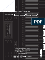 PSR-E353 Owner's Manual