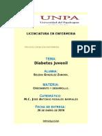 Investigación acerca del diabetes juvenil