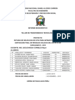 Infomre-FINAL Proyecion CARHUAMAYO 201555555