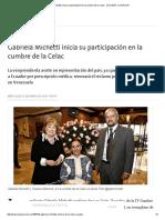 Gabriela Michetti Inicia Su Participación en La Cumbre de La Celac - 27.01