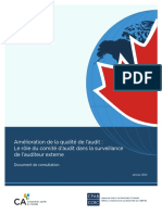 Amelioration de La Qualite de Laudit Le Role Du Comite Daudit Surveillance de Lauditeur Ext Doc de Consult R2 00109