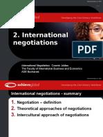 2. International Negotiations