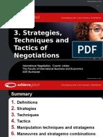 3. Strategies Techniques Tactics in Negotiations