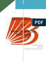 a report of bank of Baroda