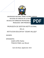 Propuesta de Gestion Institucional