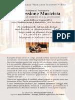 Locandina ProfessioneMusicista Roma 2016
