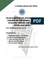 Plan Parcial Estratégico de Desarrollo Urbano Sustentable de la Colonia Miguel Hidalgo, Tepi; Nayarit.