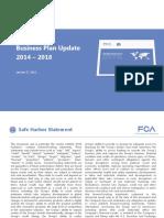 FCA 2014-2018 business plan
