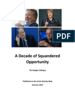 A DECADE OF SQUANDERED OPPORTUNITY by JM Minor