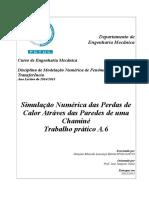 Simulação Numérica das Perdas de Calor Atráves das Paredes de uma Chaminé