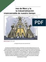 Las Previsiones de Marx y La Paradoja de La Industrializacion Financiarizada de Nuestro Tiempo- Michael HUdson