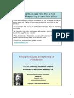 Underpinning Foundations