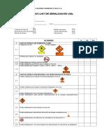 Check -List Señalizacion Vial