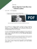 Otros Holandeses Dejarán Costa Rica Tras Violentos Asaltos