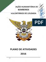 BVL Plano Atividades e Orçamento 2016