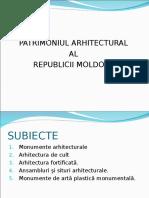 Patrimoniul Arhitectural Al RM Ppt