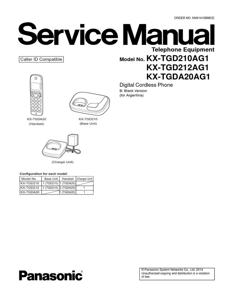 service manual kx tgd210ag1 power supply telephone. Black Bedroom Furniture Sets. Home Design Ideas