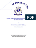 Joining Instructions Indian Naval Academy