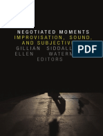 Negotiated Moments edited by Gillian Siddall and Ellen Waterman