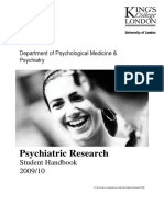 MSc Psychiatric Research Handbook