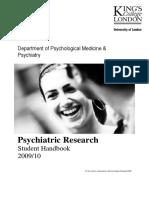 MSc Psychiatric Research Handbook