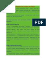 Modelos Organizacionales de 3 y 4 Ejes