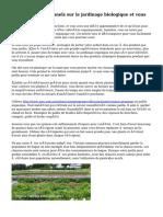 Conseils professionnels sur le jardinage biologique et vous