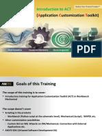 Training-Agenda - ACT Introductory