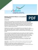 Art Ofman's Core-quadrants and Psychodrama PODIUM