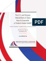 The U.S. and Russian Interventions in Syria