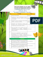 CALENDARIO ciclo escolar 2016 Ministerio de Cultura Guatemala