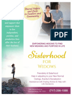 Sisterhood for Widows Flyer