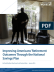 Improving Americans' Retirement Outcomes Through the National Savings Plan