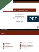 TEORIA COMBINATORIA(DESCRIPCION)