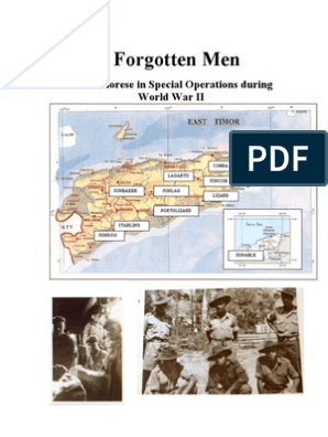 Forgotten Men: Timorese in Special Operations during World