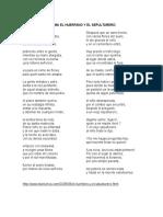 Poema El Huerfano y El Sepulturero