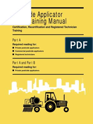 Pesticide Applicator Core Training Manual | Biological Pest