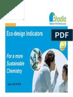 Eco-Design Indicators Rhodia